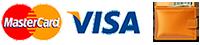 Принимаем к оплате банковские карты mastercard и visa